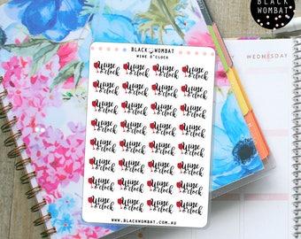 Wine O'clock, Wine Time, Wine Planner Stickers - Erin Condren - MulberryPOP - Various Planners