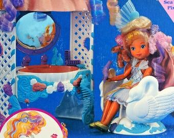 Ultra RARE Lady Lovelylocks and the PIxietails Doll Set 80s TCFC New In Box Lovely Locks Enchanted Island Sea Magic Salon