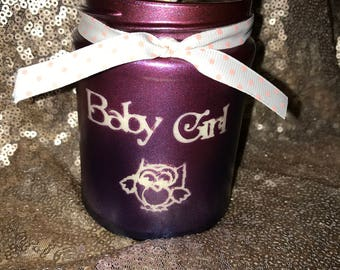 Baby Girl Strawberry Candle