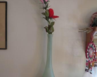 """Vintage Glass Bud Vase 13 1/3"""" Tall"""