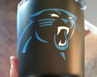 Panther's 30oz. Yeti *** Free Shipping*** on Glossy Black Tumbler