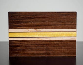 Black Walnut, Maple, and Yellowheart Cutting Board