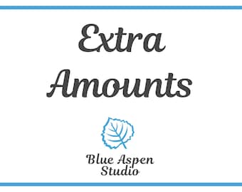 Extra Gift Certificate and Gift Card Amounts - 5 Dollars - Change Fee for Blue Aspen Studio Listings - D2