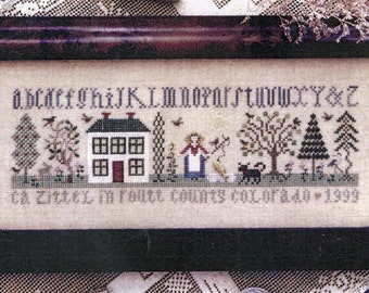A House in the Country by The Drawn Thread Counted Cross Stitch Pattern/Chart