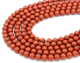 Red Jasper Beads 8mm A quality Red Marble Beads Red Gemstones Beads Mala Beads Mala Necklace Bracelet Beads Red Jasper Jewelry Supplies