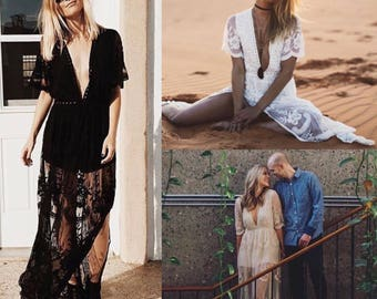 Paris Lace Maxi Romper
