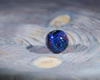 Galaxy bead. Glass beads. Hand made beads. Space beads. Lampwork beads.