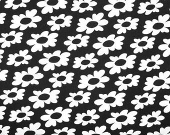 5 yards Premier Prints Wildflowers Black