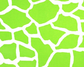 2-1/2 yards Premier Prints Giraffe Chartreuse-White