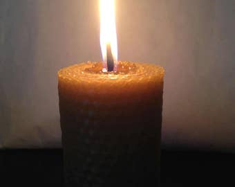 Big natural pillar candles / natural beeswax pillar Candles / handmade Rolled Honeycomb Candles, thick candles / large candles, eco-friendly