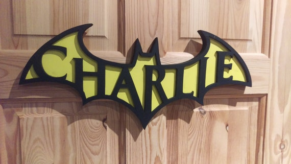 Batman Name Plaque
