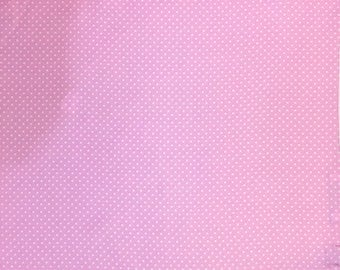 Pink White Polka Dot Silk Pocket Square