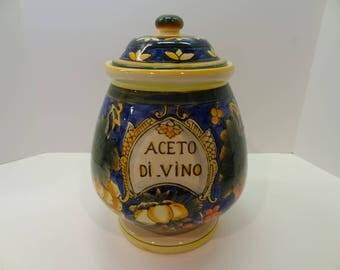 """VINTAGE  ACETO (Vinegar) """"Mother"""" JAR"""