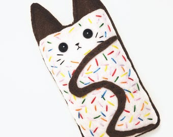 KITTY POPTART • Customizable Organic Catnip or Valerian Root Toy • Felt Cat Toy • Cute Vegan Cat Gift