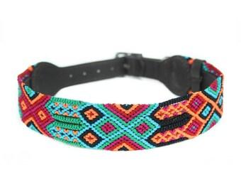 Caribbean Dog Collar - Red/Green/Blue
