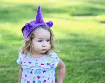 Organic Plum Unicorn Headband, hand dyed with eco friendly dyes and love, eco kids, vegan kids