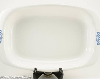 "Corning Ware Blue Cornflower 15"" Roaster/Roasting Pan Made in Canada"