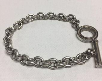 Vintage Sterling silver chain bracelet vintage sterling chunky link bracelet