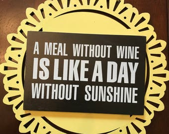 Sunshine and wine wall art