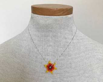 Embera Chami Beaded Flower Charm Necklace