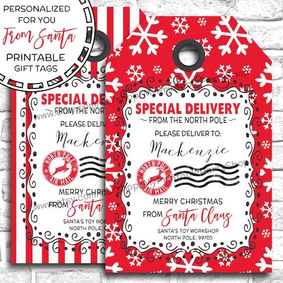 Personalized Christmas Gift Tags: Items Similar To PRINTABLE Christmas Gift Tags, From Santa