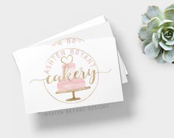 Bakery Premade Logo, Cake Logo Design, Cake Logo, Pretty Cake Logo Design, Patisserie Logo, Custom Bakery Logo Design, Bakery Logo
