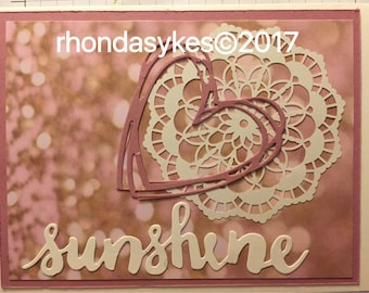 Handmade Stampin up sunshine card