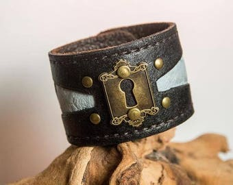 Handmade Recycled Leather Cuff
