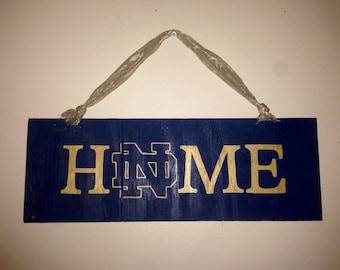 Notre Dame door sign