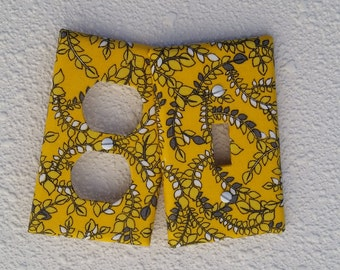 Light switch cover plate yellow