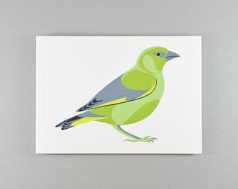 Notecard | Greenfinch | Single card and envelope