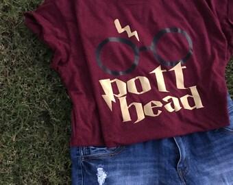 harry potter pott head shirt.