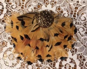 Pheasant Feather Hair Piece