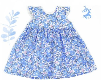Dress ruffled Liberty® Blue-rose