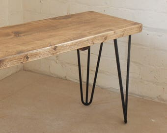 Handmade Rustic Bench made from reclaimed wood Industrial Urban
