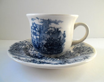 Antique Dish and Cup in crockery