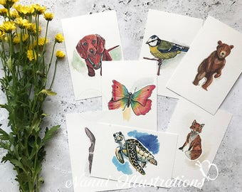 Make Your Watercolor Postcard Set