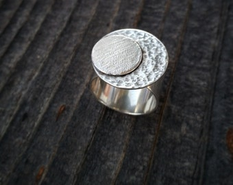 Transit Moon Ring - Fine Silver Moon Ring