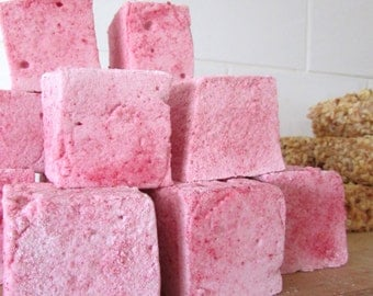 Large Handmade Raspberry Marshmallows