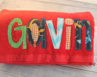 Personalized Beach towels, monogrammed beach towels, pool towel monogrammed, kids beach towel