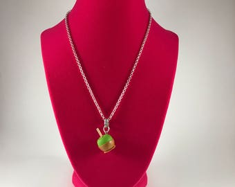 Caramel Apple Necklace charm