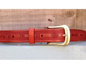 Belt Hand Carved & Stamped