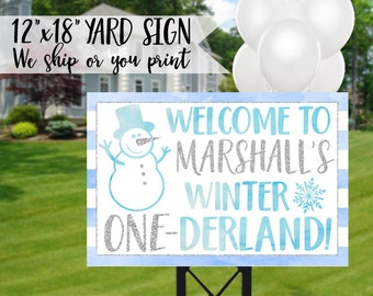 Boy Winter Onederland Birthday Sign, Winter Onederland Yard Sign, Winter Onederland Sign, Winter 1st Birthday Sign, Onederland Welcome Sign