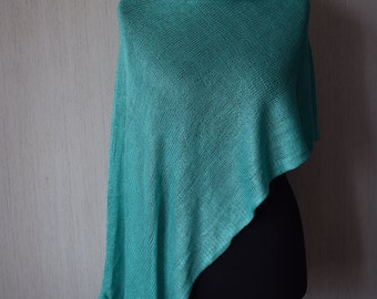 Knitted transformer, knitted turquoise transformer, One size transformer, Womens transformer, Turquoise scarf