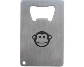 Monkey Face Bottle Opener, Stainless Steel Credit Card Size, Bottle Opener For Your Wallet, Credit Card Size Bottle Opener
