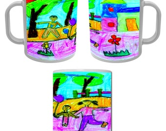 Mug Cup personalized with your child's drawing