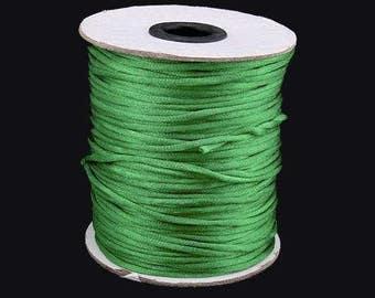 10m Green Rattail Cord 2mm Shamballa Kumihimo Braiding Thread Rat Tail Silky