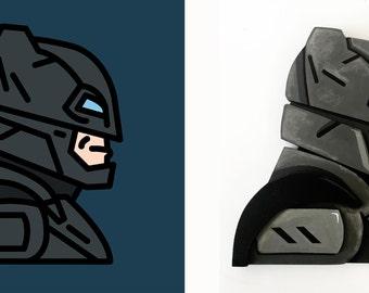 Batman (BvS-Armored Suit) - Wood Sculpture