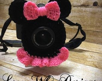Camera Lens Buddy, Minnie Mouse Camera Lens Buddy, Minnie Mouse Camera Buddy, Minnie Mouse Lens Buddy, Crochet buddy