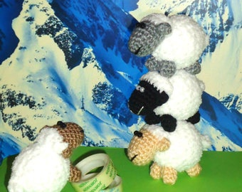 crochet sheep crochet lamb cute sheep crochet animals mini farm animals decoration toys crochet figurine toy